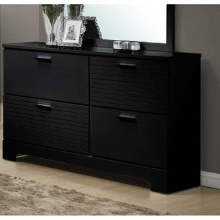 LYKE Home Moda Black 4-drawer Dresser
