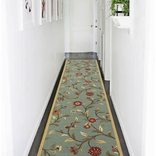 Ottomanson Ottohome Collection Floral Garden Design Modern Hallway Runner Rug (2'7 x 9'10)