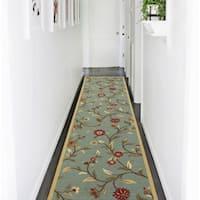 Ottomanson Ottohome Collection Floral Garden Design Modern Hallway Runner Rug - 2'7 x 10'