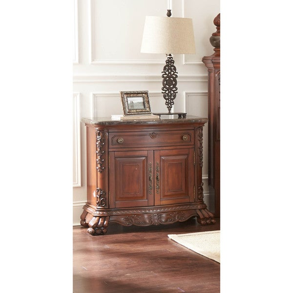 LYKE Home Kelly 1-drawer Night Stand w/ Marble Top