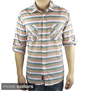 Elie Balleh Brand Men's Striped Style Slim Fit Casual Shirt