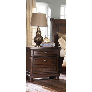 LYKE Home Manny Brown 3-drawer Night Stand