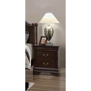 LYKE Home Cameron Brown 2-drawer Night Stand