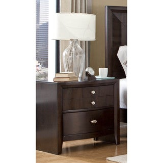 LYKE Home Ema Espresso 2-drawer Night Stand