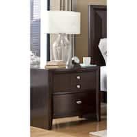LYKE Home Ema Espresso 2-drawer Night Stand