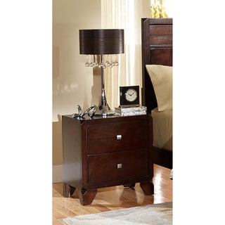 LYKE Home Phylis Merlot 2-drawer Night Stand