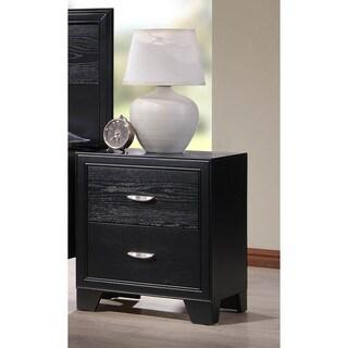 LYKE Home Vera Black 2-drawer Night Stand
