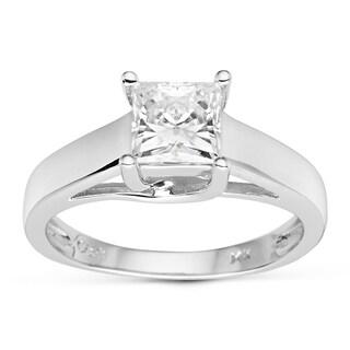 Charles & Colvard 14k Gold 1.00 TGW Square Forever Brilliant Moissanite Solitaire Ring