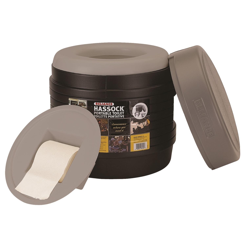 Reliance Hassock Portable Toilet (Black)