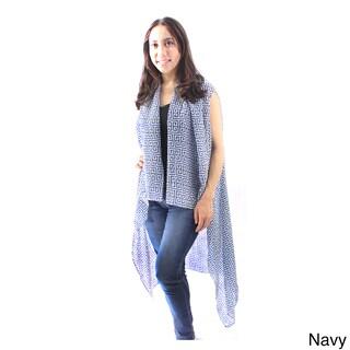 Le Nom Women's Sleeveless Open Front Cardigan (Option: Navy)