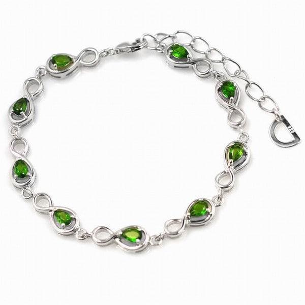 De An Sterling Silver Chrome Diopside Bracelet