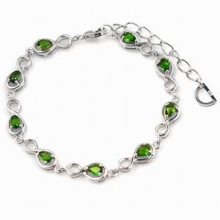 De Buman Sterling Silver Chrome Diopside Bracelet