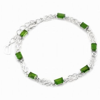 De Buman Sterling Silver Chrome Diopside Bracelet|https://ak1.ostkcdn.com/images/products/10192702/P17317735.jpg?_ostk_perf_=percv&impolicy=medium