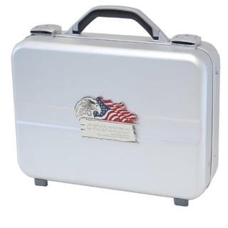 T.Z. Case Molded Aluminum Executive Pistol Case Silver (14.25 inches)