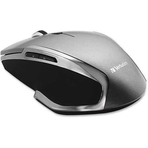Verbatim Wireless Notebook 6-Button Deluxe Blue LED Mouse - Graphite