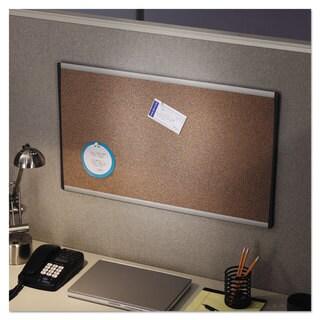 Quartet Cubicle Arc Frame Tan Colored Cork Board