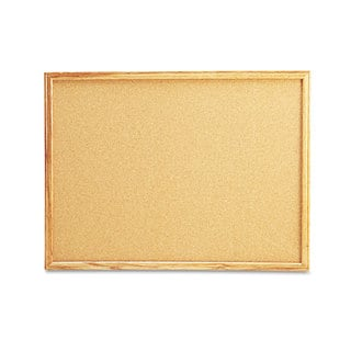 Universal Natural Cork Board with Oak Style Frame (Pack of 2)