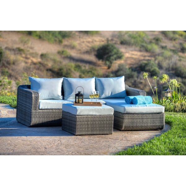 Luies 3 Piece All Weather Wicker Patio Conversation Set