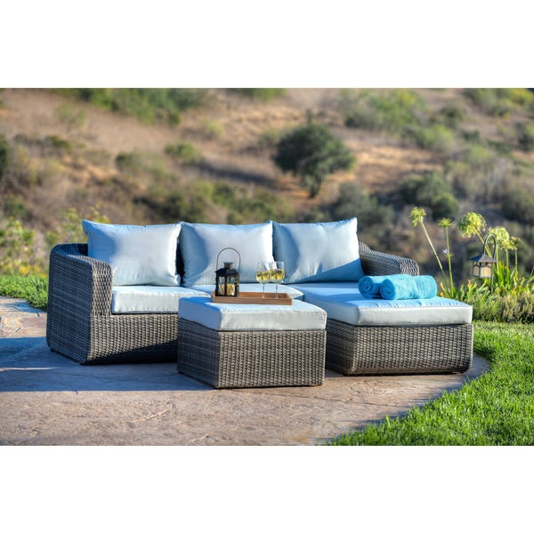 High Quality The Hom Luies 3 Piece All Weather Wicker Patio Conversation Set