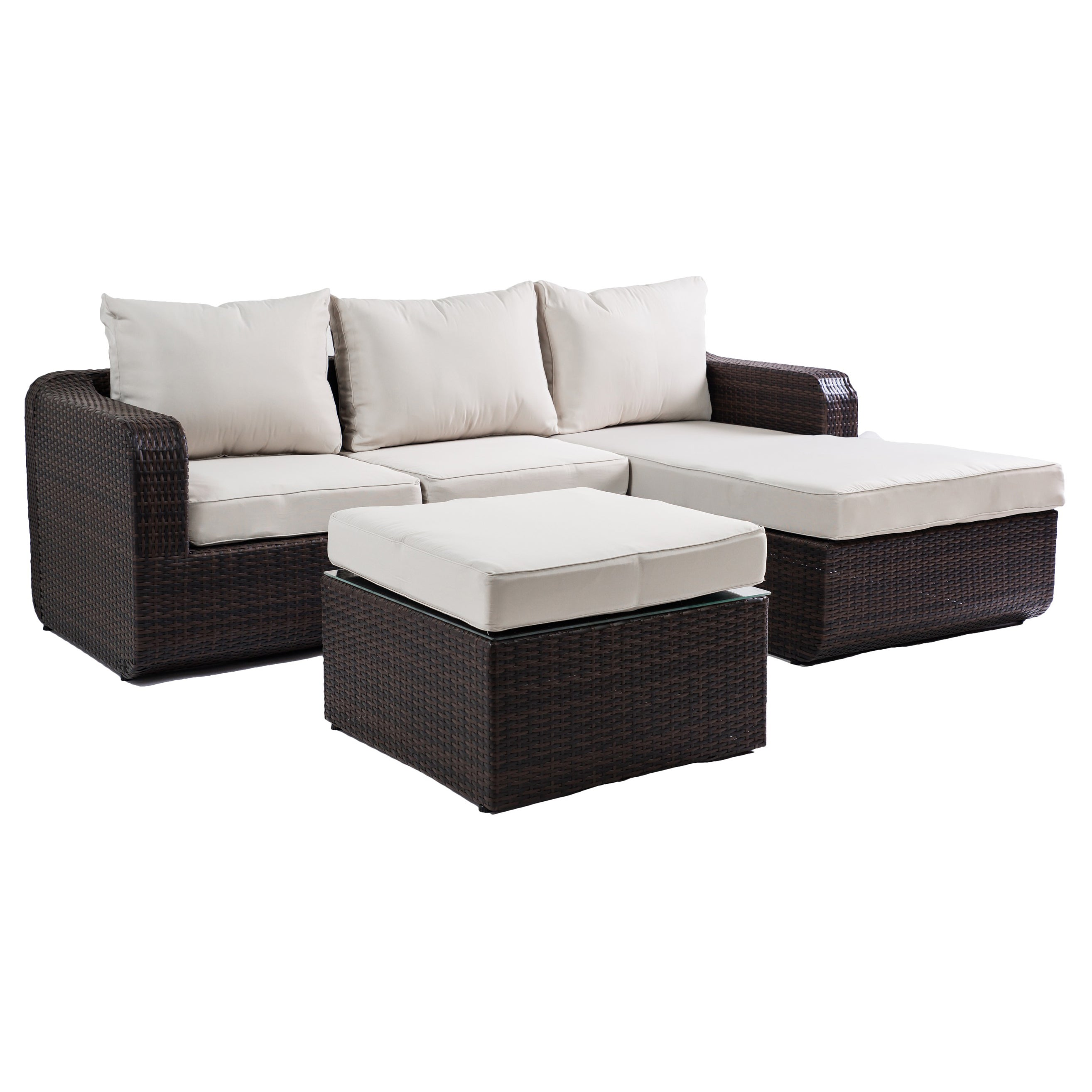 the Hom Luies 3 piece All weather Wicker Patio Conversation Set