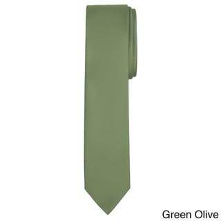 Jacob Alexander Solid Color Men's Skinny Tie