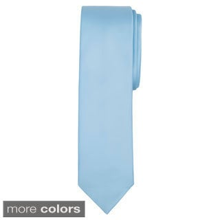 Jacob Alexander Solid Color Men's Slim Tie