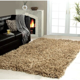Affinity Home Collection Cozy Shag Area Rug (5 x 8) (Taupe - 51 x 8)