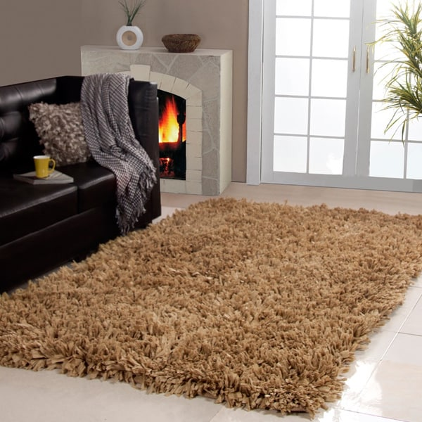affinity home collection cozy shag area rug (3' x 5') - free