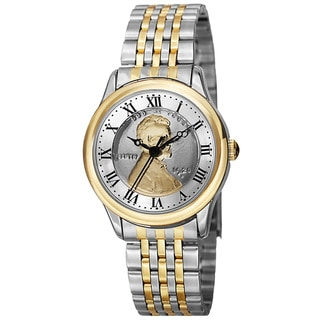 Link to August Steiner Women's Quartz Wheat Penny Coin Steel Two-Tone Bracelet Watch Similar Items in Women's Watches