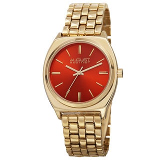 August Steiner Classic Men's Quartz Alloy Gold-Tone Bracelet Watch