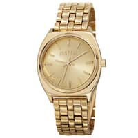 August Steiner Classic Men's Quartz Alloy Gold-Tone Bracelet Watch