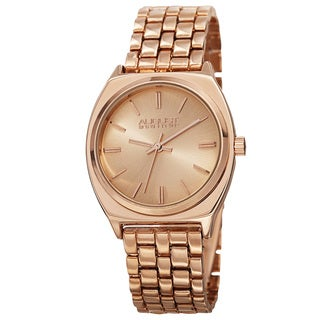 August Steiner Classic Men's Quartz Alloy Rose-Tone Bracelet Watch