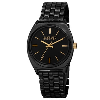 August Steiner Classic Women's Quartz Alloy Black Bracelet Watch