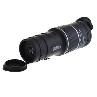 Dual Focus 18 x 52mm HD Optics Telescope Zoom Green Optic Lens Armoring Monocular