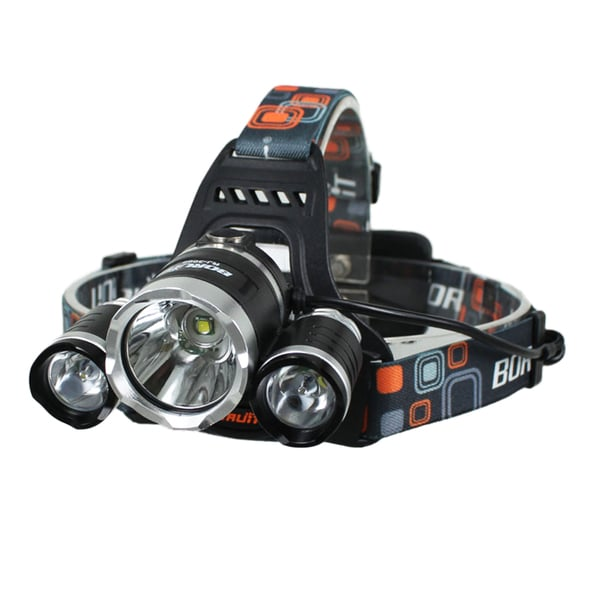3000Lumen XM-L XML 3 x T6 LED Headlight Light Headlamp Head Lamp Flashlight