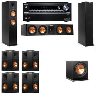 Klipsch RP-260F -R112SW-7.1-Onkyo TX-NR838 Tower Speakers