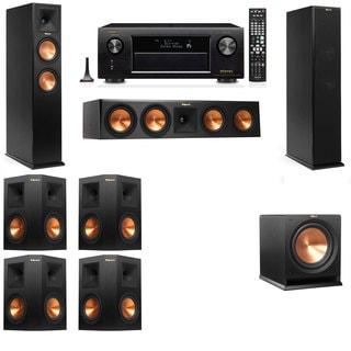 Klipsch RP-260F -R112SW-7.1-Denon AVR-X4100W Tower Speakers