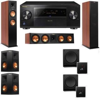 Klipsch RP-260F CH-RP-450C-SW-112-5.2-Pioneer Elite SC-85 Tower Speakers