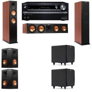 Klipsch RP-260F CH-SDS12-5.2-Onkyo TX-NR838 Tower Speakers