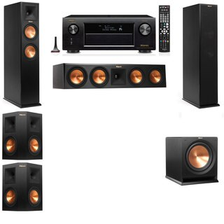 Klipsch RP-260F -R112SW-5.1-Denon AVR-X4100W Tower Speakers