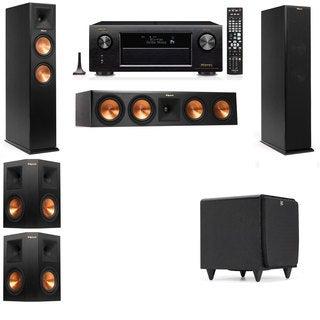 Klipsch RP-260F -SDS12-5.1-Denon AVR-X4100W Tower Speakers