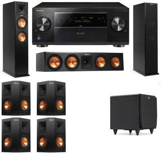 Klipsch RP-260F -RP-450C-SDS12-7.1-Pioneer Elite SC-85 Tower Speakers