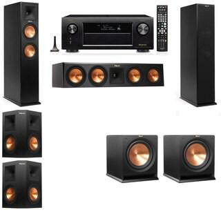 Klipsch RP-260F -R112SW-5.2-Denon AVR-X4100W Tower Speakers