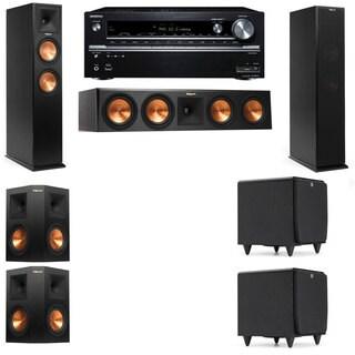 Klipsch RP-260F -SDS12-5.2-Onkyo TX-NR838 Tower Speakers