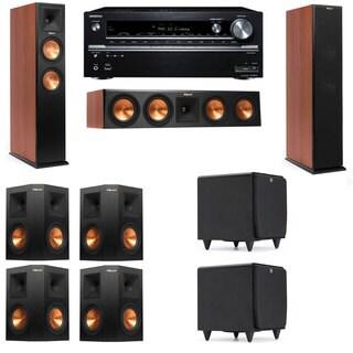 Klipsch RP-260F CH-SDS12-7.2-Onkyo TX-NR838 Tower Speakers