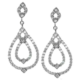 Michael Vallitutti Sterling Silver and Cubic Zirconia Drop Earrings