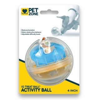 Pet Zone IQ Treat Ball 4-inch Dog Toy