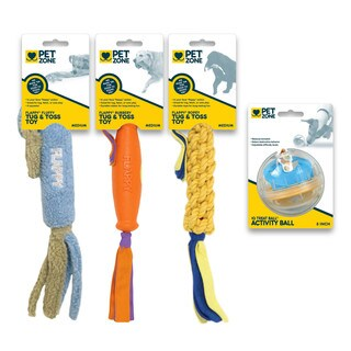 Pet Zone Medium Dog Interactive Dog Toys -(Pack of 4)