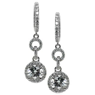 Michael Valitutti Sterling Silver and Cubic Zirconia Earrings