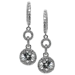Michael Valitutti Sterling Silver and Cubic Zirconia Earrings|https://ak1.ostkcdn.com/images/products/10195058/P17319756.jpg?impolicy=medium